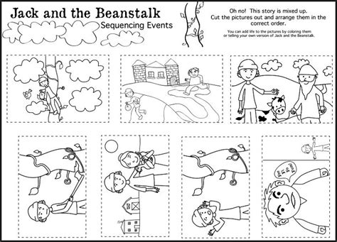 and the beanstalk worksheets activity shelter