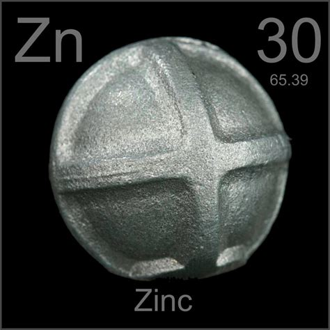 zinc anodes sacrificial tank oil element periodictable sample zn periodic table elements example samples metal iron