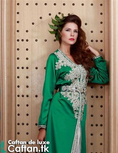 Kalvita Kaftan By Gallery Nabila caftan 2014 vert moderne caftan haute couture 2016