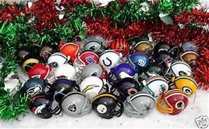 XMAS 32 TEAM NFL FOOTBALL HELMET CHRISTMAS ORNAMENTS SET