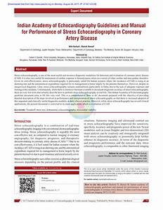 Pdf  Indian Academy Of Echocardiography Guidelines And