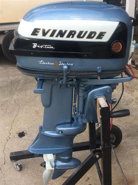 hp evinrude outboard antique boat motor  sale