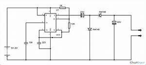Negative Voltage Generator Circuit Using Ic 555