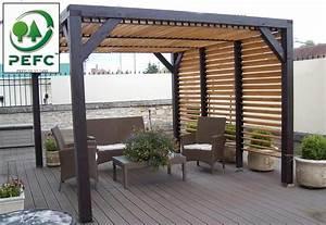Toit Pergola Bois : la pergola ombra lames orientables mobilier de jardin rangement jeux am nagement jardin ~ Dode.kayakingforconservation.com Idées de Décoration