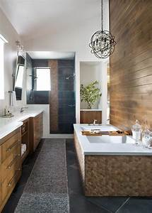Neutral, Contemporary, Master, Bathroom, With, Paneling
