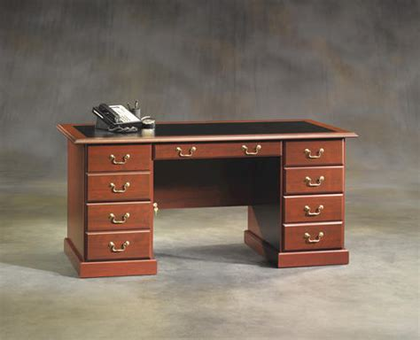 Sauder Heritage Hill Executive Desk Cherry by Sauder Heritage Hill Classic Cherry Executive Desk At Menards 174