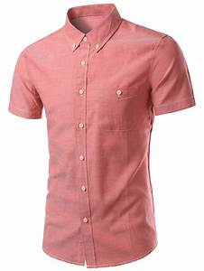 Plus Size Slimming Button-Down Short Sleeve Men's Shirt in ...