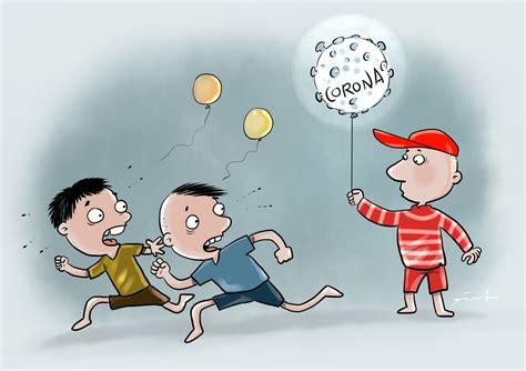 Gratis untuk komersial tidak perlu kredit bebas hak cipta. Kartun Editorial Virus Corona yang Menakutkan