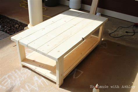 DIY Rustic X Coffee Table (Plans by Ana White)   Handmade with Ashley