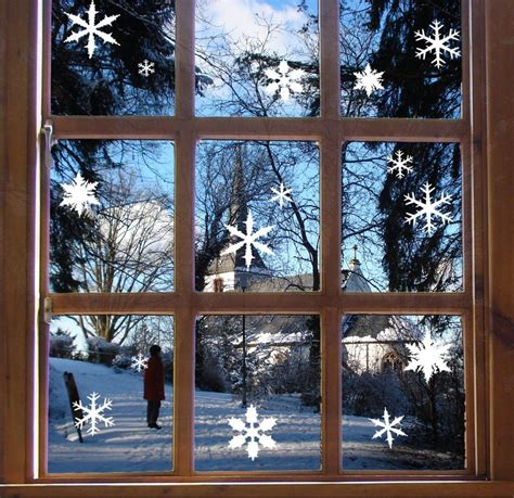 snowflake window stickers festive christmas wall decals