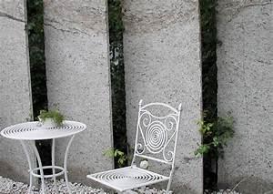 Terrasse Mit Granitplatten : sichtschutzwand an der terrasse transparent gestaltet ~ Sanjose-hotels-ca.com Haus und Dekorationen