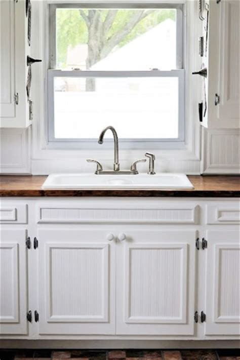 beadboard wallpaper kitchen cabinets 10 amazing diy projects with bead board wallpaper 4377
