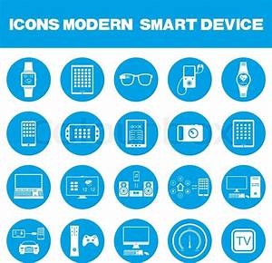 Smart Home Icon : icons set of smart devices modern wearable electronics audio and video gadgets communication ~ Markanthonyermac.com Haus und Dekorationen
