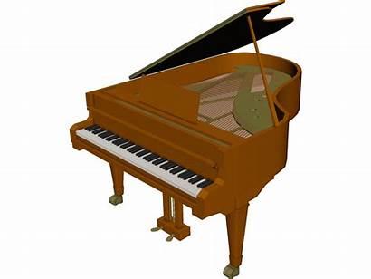 Piano 3d Grand Cad Animation 3ds Maya