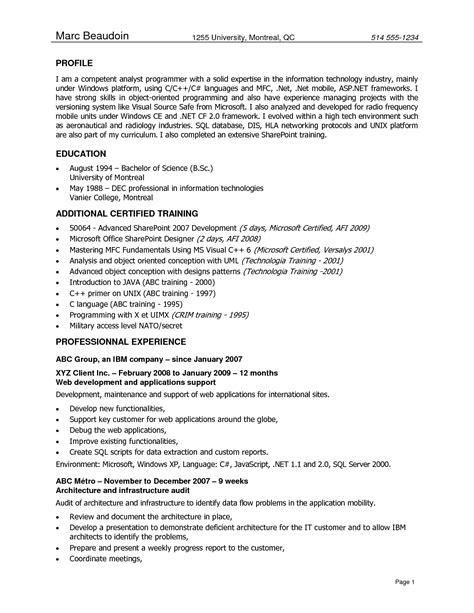 computer software skills resume exles application programmer resume sales programmer lewesmr