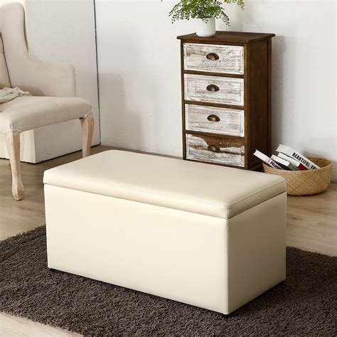 Storage Ottoman Table - 3pc ottoman bench storage lid tray footrest coffee table