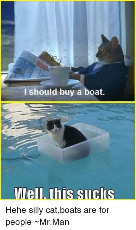 Cat Buy A Boat Meme - i should buy a boat well this sucks hehe silly catboats are for people mrman meme on sizzle