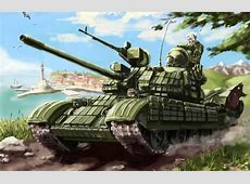 Wallpaper flag, soldiers, tank, machine gun, T55, Russia