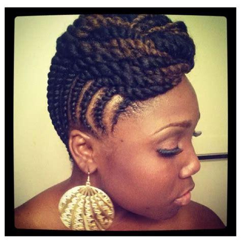 beautiful two strand twist updo hair