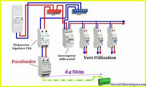 Tableau Electrique Schema : branchement parafoudre dans tableau electrique circuit ~ Melissatoandfro.com Idées de Décoration