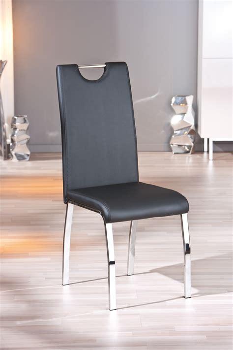 chaise à manger chaise design de salle à manger coloris noir lot de 2