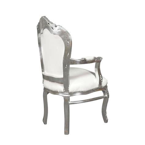 chaise baroque pas cher fauteuil baroque blanc et argent with chaise baroque