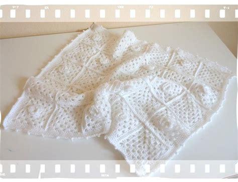 plaid b 233 b 233 vintage au crochet roses de septembre