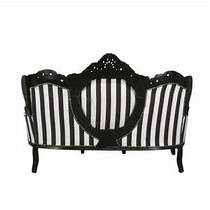 Canapé Baroque Pas Cher : canap baroque noir et blanc meuble baroque ~ Teatrodelosmanantiales.com Idées de Décoration