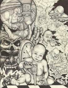 Chicano Lowrider Art Drawings Gangster