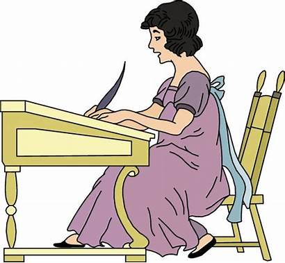 Writing Clipart Woman Writer English Clip Author