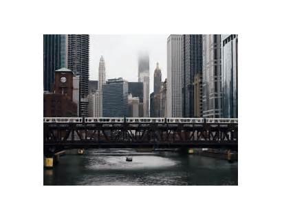Chicago Train River Gifs Cityscape Re Cinemagraph