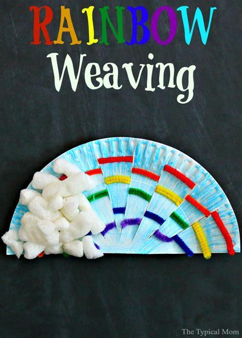 rainbow weaving art  typical mom