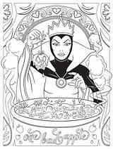 Coloring Disney Pages Adults Villain Villian sketch template