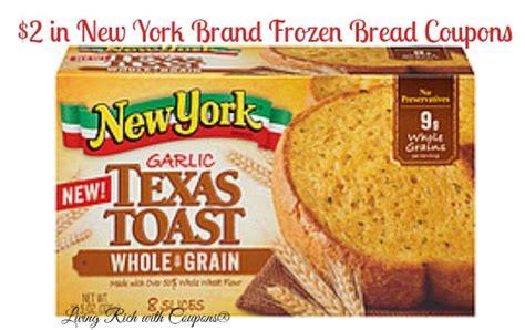 Texas Toast Coupons  $2 New York Brand Frozen Bread
