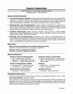 film production resume template resume builder With film director resume