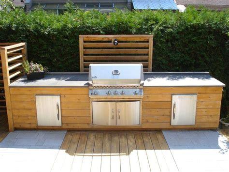 cuisine exterieur cuisine extérieure en bois meubles en bois traité