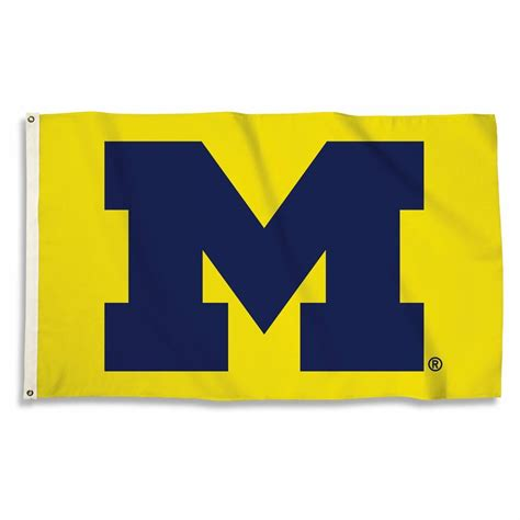 michigan wolverines colors michigan wolverines maize 3 x 5 flag
