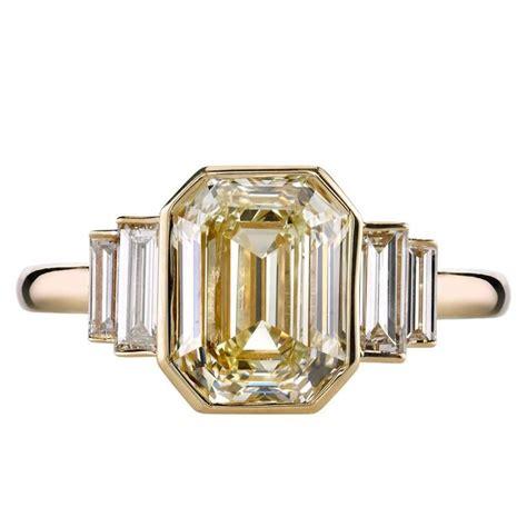 3 06 carat deco emerald cut engagement ring at 1stdibs