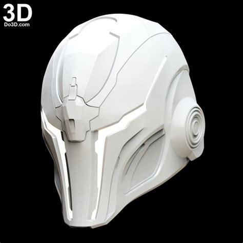printable model sci fi robot helmet dod  print