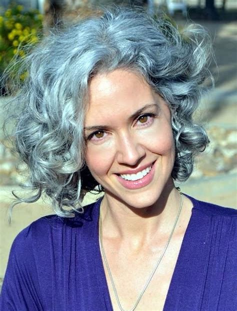 curly short hairstyles  older women