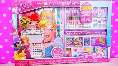 coloring toys giant disney princesses activity kit  colors stickers paints