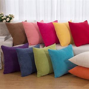 2016 sale corduroy solid decorative throw pillow cases With sectional couch accent pillows