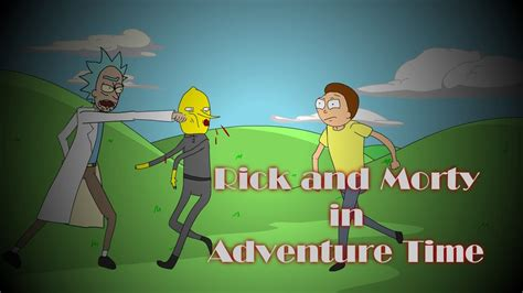 rick and morty in adventure time animated crossover