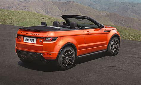 car range new car debrief range rover evoque convertible car