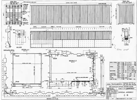 iso standard 40 low cube shipping container drawing
