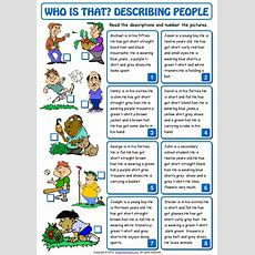 Who Is That Describing People Esl Matching Exercise Worksheet By Classmateterrero Issuu