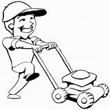 Mowing Clipart Lawn Mower Cliparts Library Coloring Grass Cartoon Kid Mow Pages Mickey Man Mouse Push Summer Clip Graphics Clipartix sketch template
