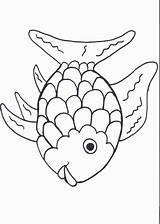 Coloring Rainbow Fish Bear Preschool Trout sketch template