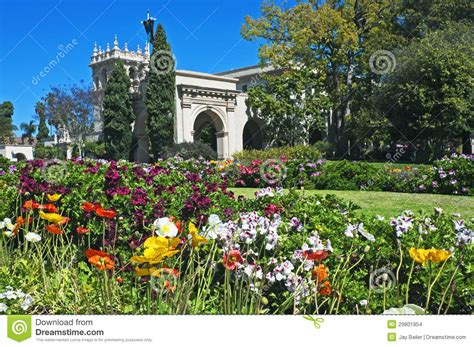 balboa park with flowers stock images image 29801954