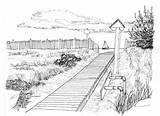 Boardwalk Coloring Sketch Template sketch template